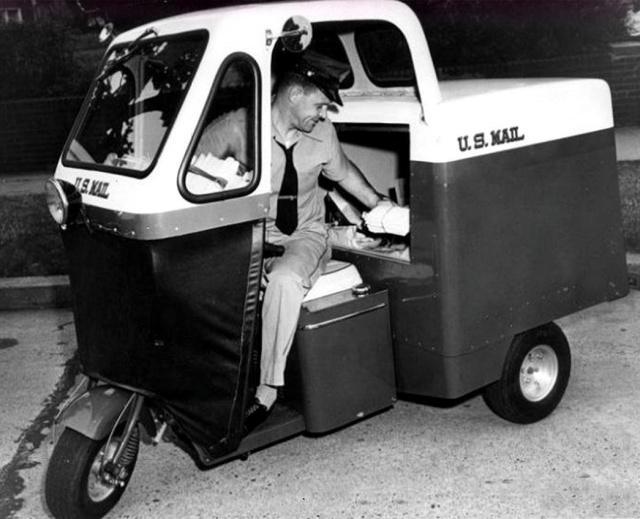 8张罕见的老照片:美国快递员的发展史,科技一般的飞跃!